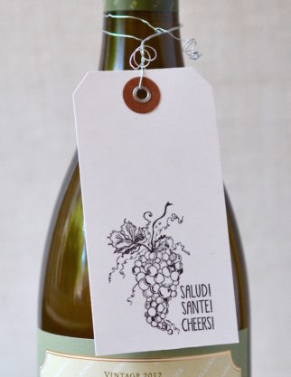 SALUD Wine Tag,  White